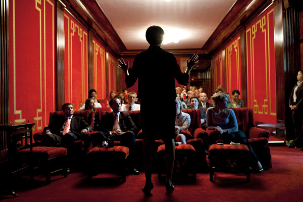 Michelle Obama hosts a screening in 2009 (White House - Pete Souza)
