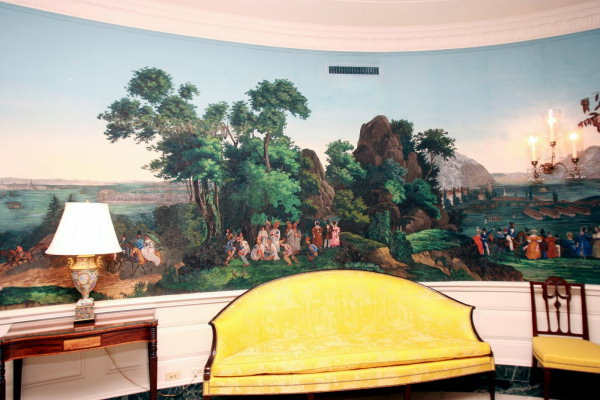 are wall murals still popular On mural room white house