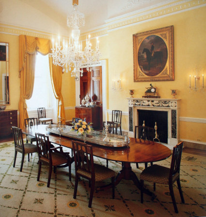 Dining Room on The Family Dining Room  Circa 1999  Looking Northeast  White House
