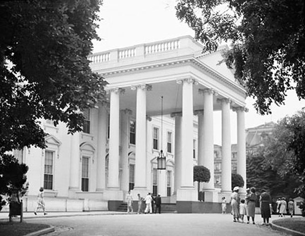 North Portico White House Museum