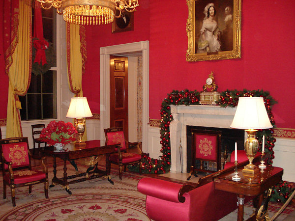 Room Red red room - white house museum