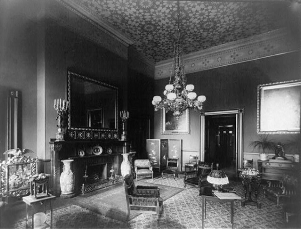 The Red Room With Tiffany Decor For Arthur Circa 1883 Library Of Congress