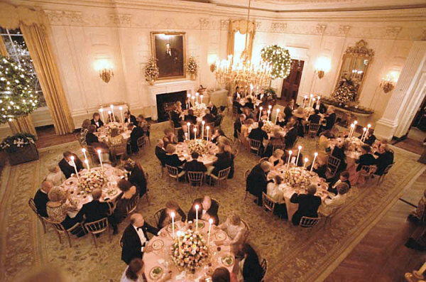 The State Dining Room Around 1991 Looking Southwest White House Historical Association A