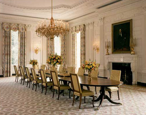 Dining Room Pictures state dining room - white house museum