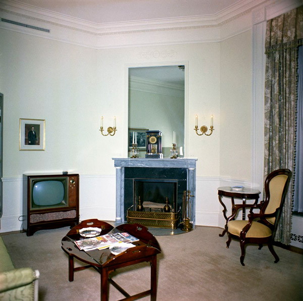 The Lincoln Sitting Room In 1962 Looking Northeast Kennedy Library
