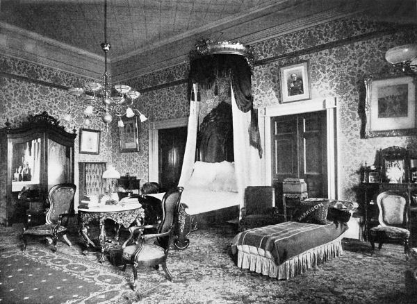 Presidential guest room in the 1890's