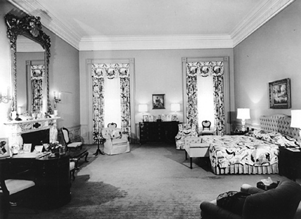 the master bedroom in 1953 converted to the mamie pink eisenhowe