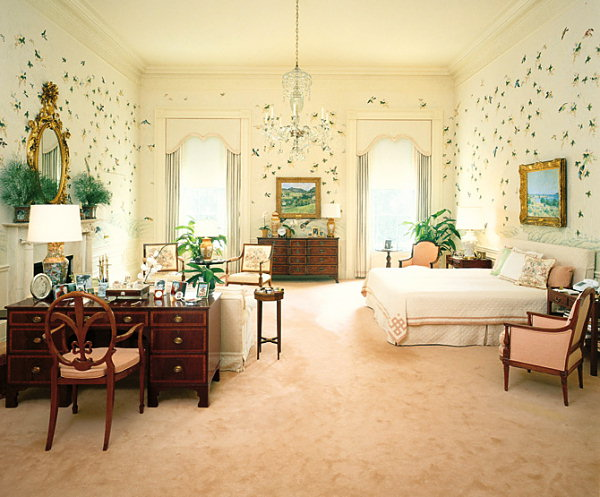 The Reagan bedroom in 1981. Master Bedroom   White House Museum