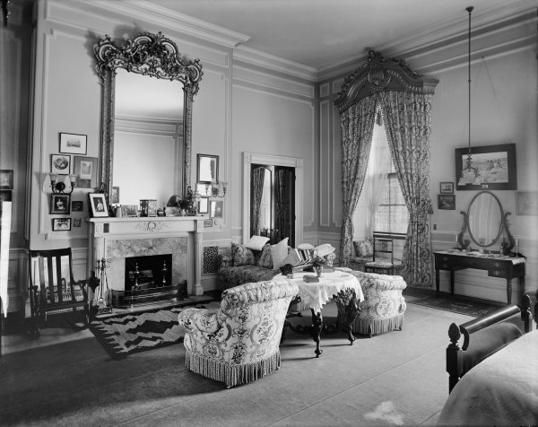 The Room As The Taft Bedroom, Circa 1911 (Library Of Congress   Harris U0026  Ewing)