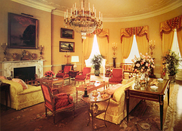 Yellow Oval Room - White House Museum
