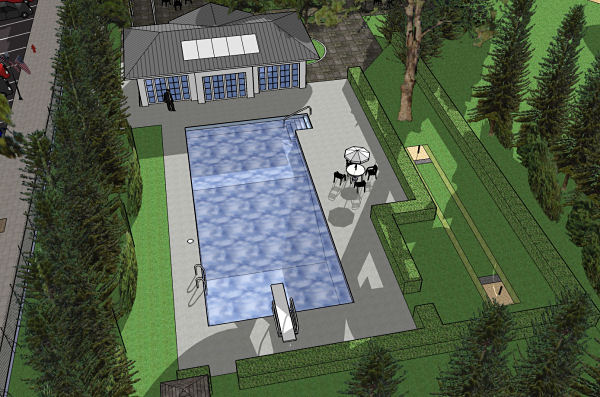 3D Rendering Of The Swimming Pool ...