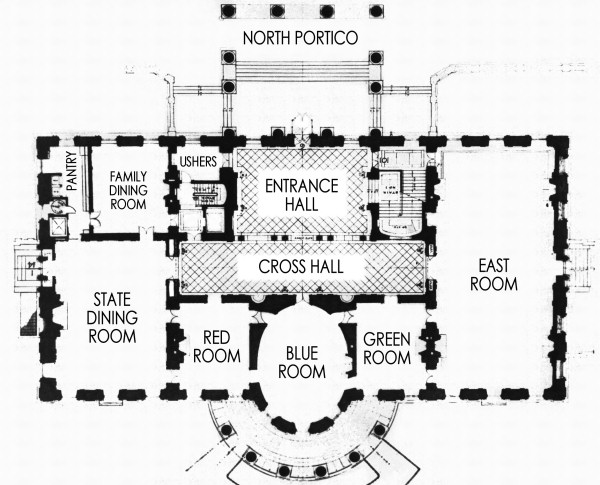first floor - white house museum