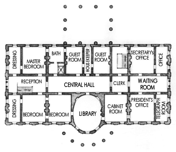 floor plan white house blueprint house of samples