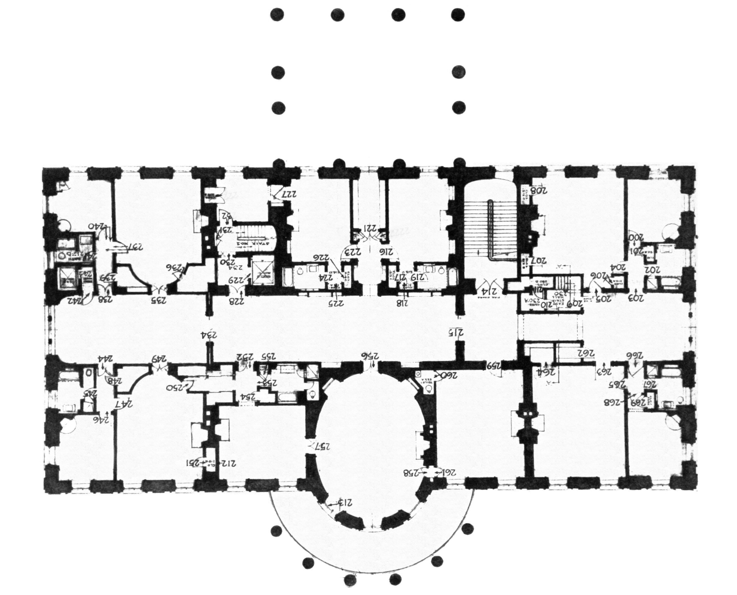 Floor Plan Of The White House Numberedtype