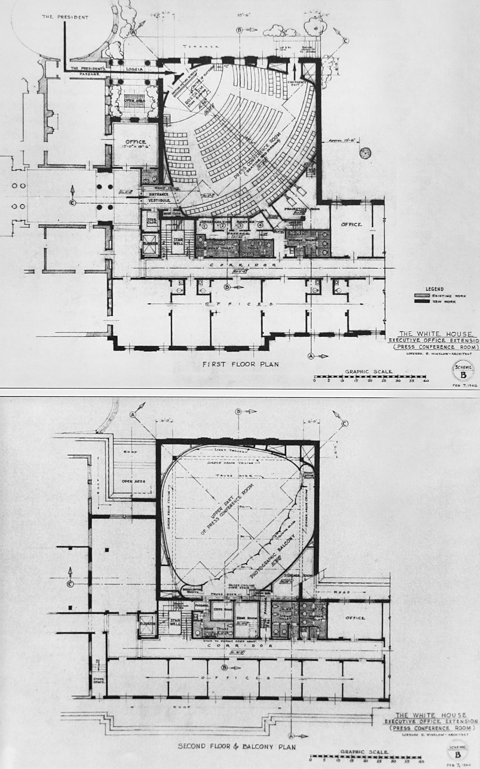 west wing office space layout circa 1990. Failed Truman West Wing Addition, I Posted Pics Of The Fulls Set Drawings On Reconstruction Page. There\u0027s Floors G, 1, \u0026 2, Office Space Layout Circa 1990