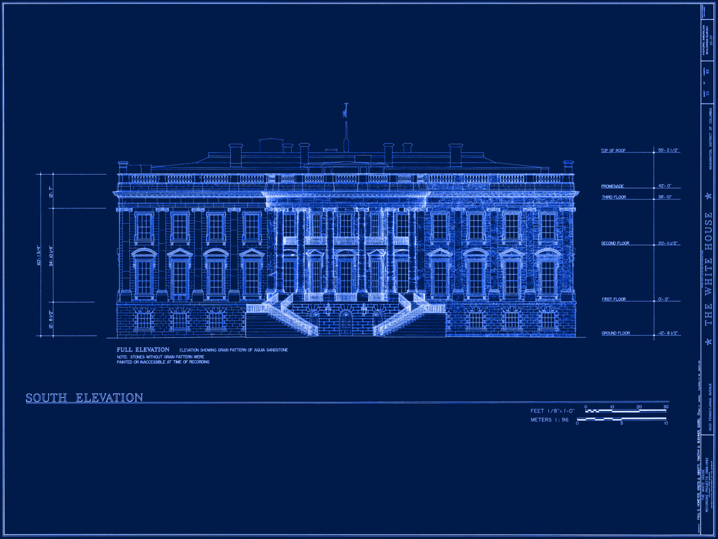White house museum for Blueprint designs for houses
