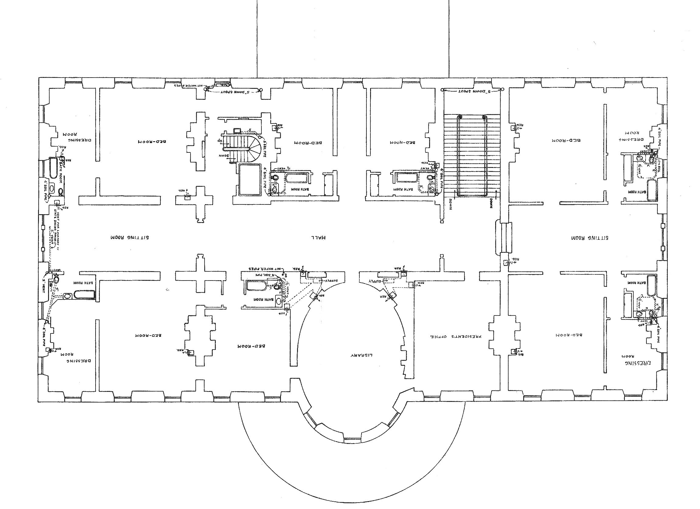 Second floor white house museum for House floor plans