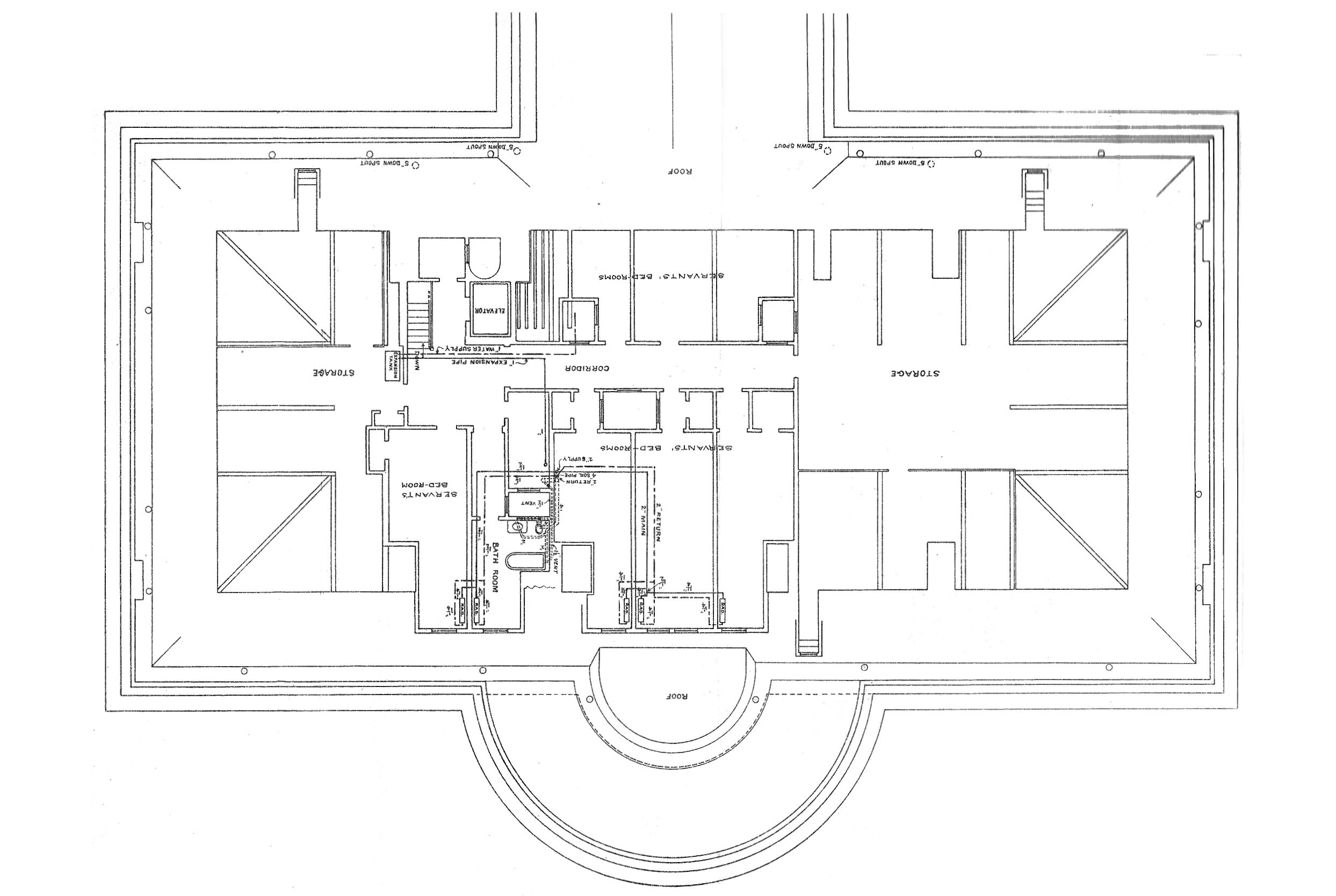 Third Floor   White House MuseumThird floor plan of the White House after the remodeling   Report of the Architects
