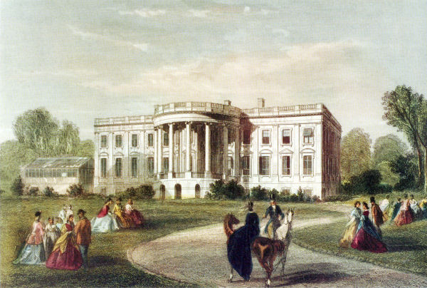 First White House With The First Greenhouse