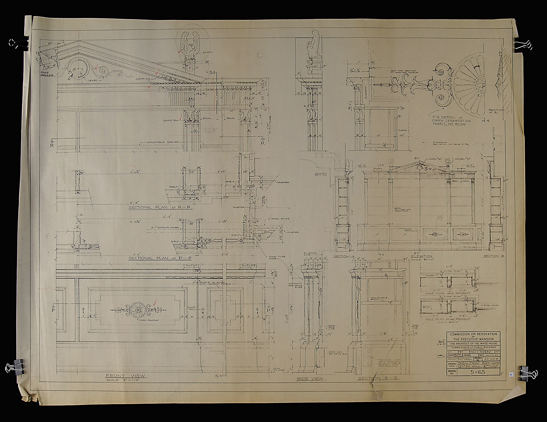 blue prints white house museum second floor