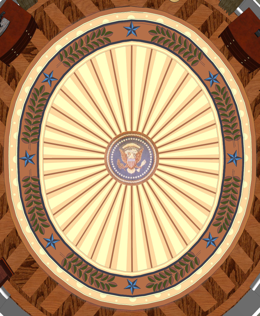 bush oval office. Digital Rendering Of President Bush\u0027s Oval Office Rug Bush E