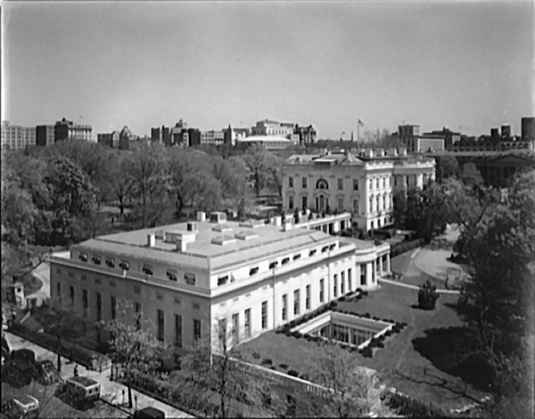 west wing oval office. The West Wing, Circa 1938, After Franklin Roosevelt Had Oval Office Wing