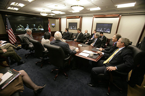 White House Situation Room Photo