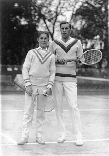 Sandy Wiener and Bill Tilden on the courts in 1923 ( Library of ...