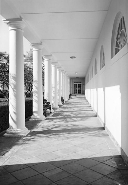 North Side Ford >> West Wing Colonnade - White House Museum